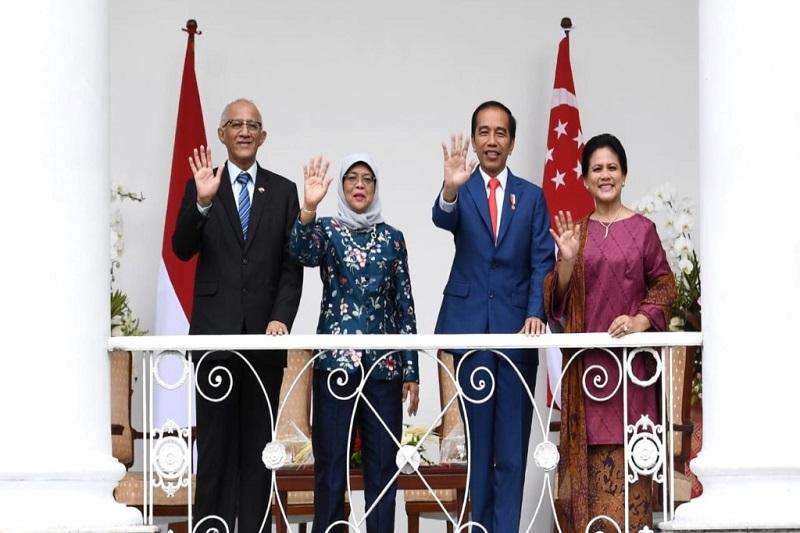 Presiden Jokowi Sambut Kunjungan Kenegaraan Presiden Singapura di Istana Bogor