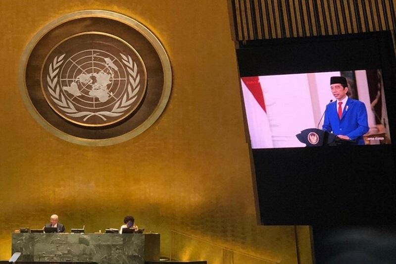Presiden Jokowi Sampaikan Pidato pada Sidang Majelis Umum ke-75 PBB