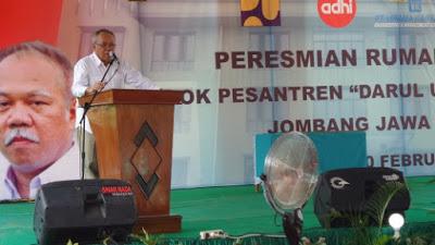 Menteri Basuki Meresmikan Rusun Ponpes Darul Ulum Jombang