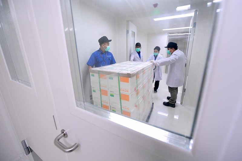 Vaksin Sinovac Disimpan di Bio Farma Bandung