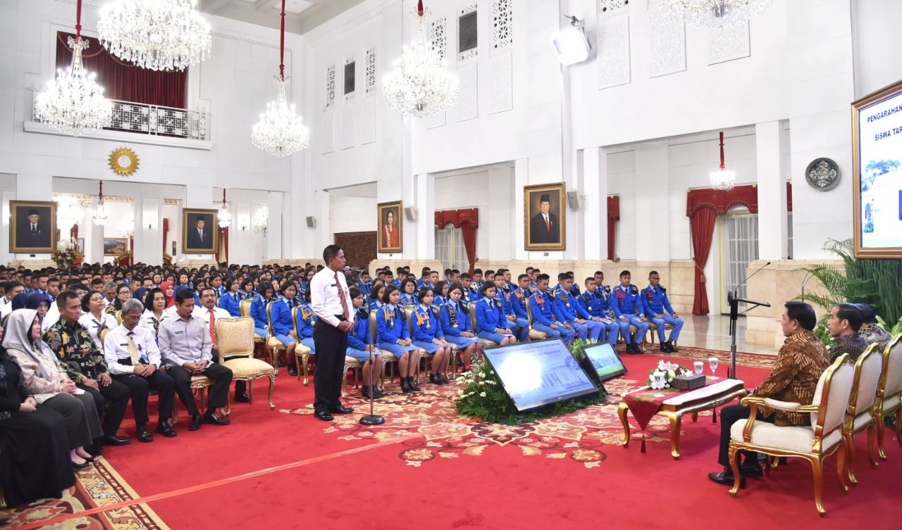Presiden Ajak Siswa SMA Taruna Nusantara Optimistis Menatap Masa Depan
