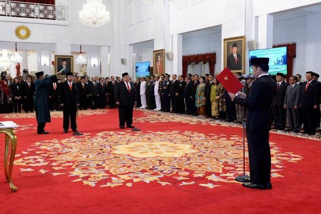 Presiden Lantik Kepala BPIP dan Kepala BPKP di Istana Negara