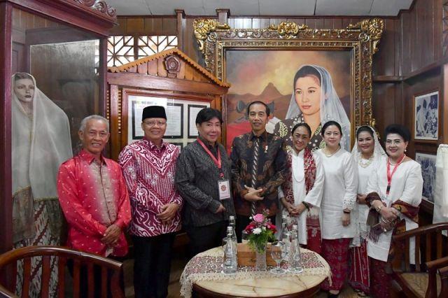 Resmikan Monumen Fatmawati, Presiden: Bukti Rasa Hormat Kita Atas Perjuangan Beliau