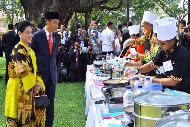 Presiden Saksikan Para Juara Lomba Masak Ikan Nusantara 2018 Beraksi