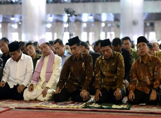 Presiden Salat Jumat di Masjid Istiqlal