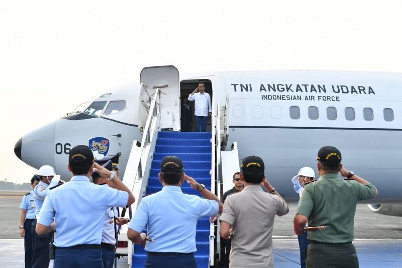Presiden Jokowi Kembali Bertolak ke Palu